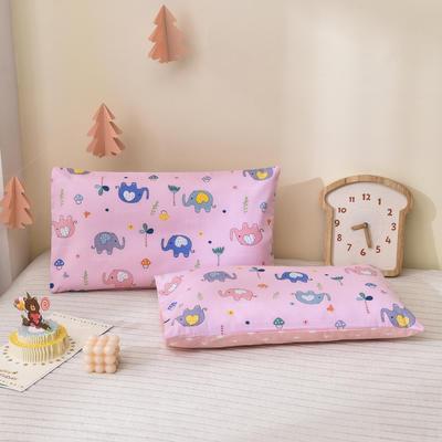 2021新款童真系列-全棉口袋式枕套 40*60cm 丛林小象