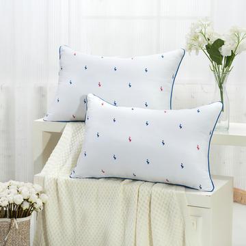 红蓝鸭舒适枕护颈保健枕芯安睡助眠枕头