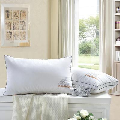 羽丝绒立体舒眠枕护颈保健枕芯安睡助眠枕头