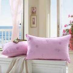 贤内助枕芯 印花羽丝枕粉枕芯枕头舒适枕安睡枕保健枕
