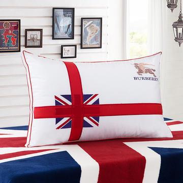 英伦风情羽丝枕护颈保健枕芯安睡助眠枕头