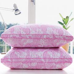 贤内助 立体珠光浆舒适枕护颈保健枕芯安睡助眠枕头 粉