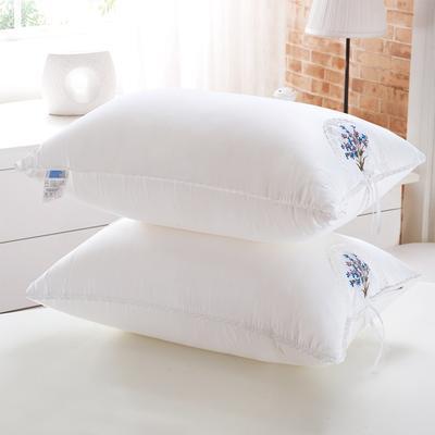 全棉茉莉花羽丝枕护颈保健枕芯安睡助眠枕头 薰衣草羽丝枕