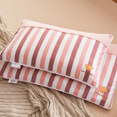 30*50 40*60全棉梭织儿童枕护颈保健枕芯安睡助眠枕头 32*50羽丝芯