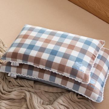 30*50 40*60全棉梭织儿童枕护颈保健枕芯安睡助眠枕头