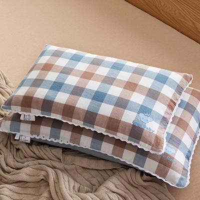 30*50 40*60全棉梭織兒童枕護頸保健枕芯安睡助眠枕頭 40*60羽絲芯