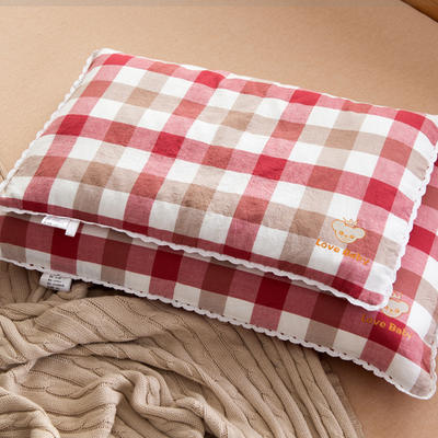 30*50 40*60全棉梭织儿童枕护颈保健枕芯安睡助眠枕头 40*60荞麦芯