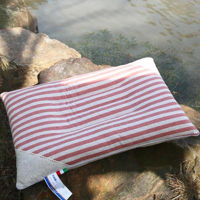 全棉彩棉定型枕 保健枕护颈保健枕芯安睡助眠枕头 红色