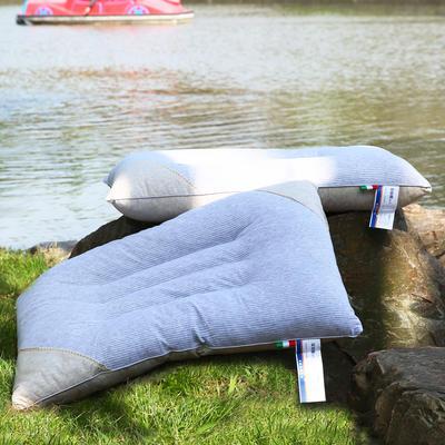 全棉彩棉定型枕 保健枕护颈保健枕芯安睡助眠枕头 灰色