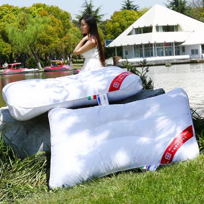 艾迪枕芯全棉绗缝荞麦护颈枕(长药包)护颈保健枕芯安睡助眠枕头
