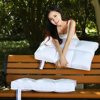 全棉魔方羽丝枕护颈保健枕芯安睡助眠枕头枕芯 六方格