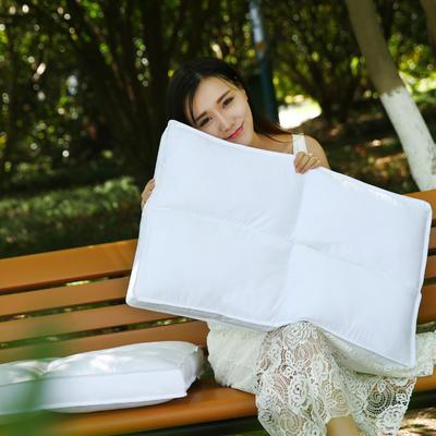 全棉魔方羽丝枕护颈保健枕芯安睡助眠枕头枕芯 四方格