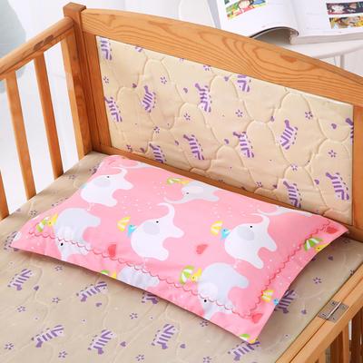 30*50全棉绣花儿童舒眠枕 枕芯 水洗枕 粉色小象