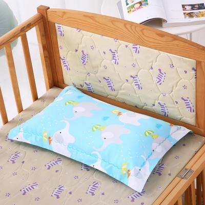 30*50全棉绣花儿童舒眠枕 枕芯 水洗枕 蓝色小象