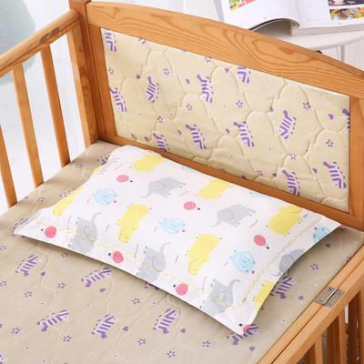 30*50全棉绣花儿童舒眠枕 枕芯 水洗枕 米色小象