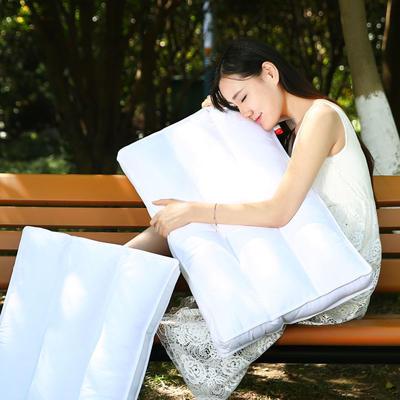 全棉魔方羽丝枕护颈保健枕芯安睡助眠枕头枕芯 横三条