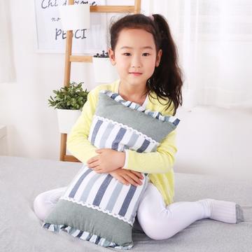 贤内助枕芯儿童荞麦枕花边全棉水洗枕芯枕头安睡枕保健枕