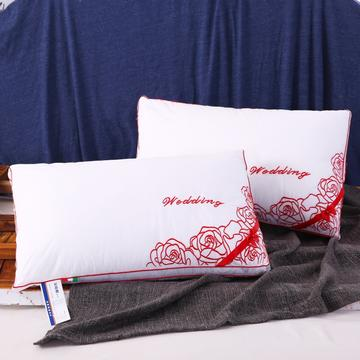 全棉枕芯婚庆枕2 玫瑰相约羽丝枕安睡枕保健枕枕芯枕头