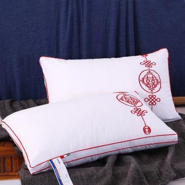 婚庆全棉枕芯永结同心舒适枕安睡枕羽丝枕保健枕