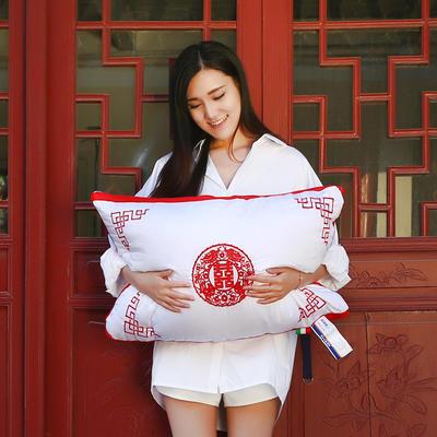 全棉枕芯婚庆枕中国风羽丝枕枕头枕芯保健枕枕头 婚庆枕中国风48*74cm
