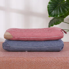 贤内助儿童枕全棉条纹水洗枕(30x50)枕头枕芯保健枕安睡枕 粉