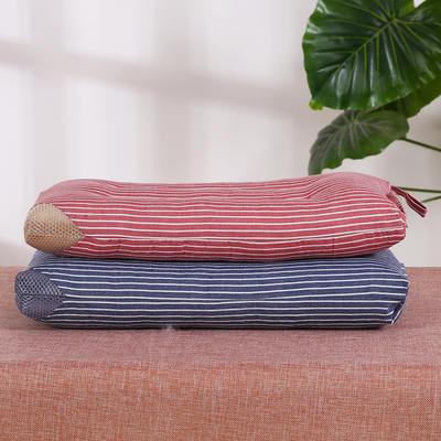 儿童枕全棉条纹水洗枕(30x50)枕头枕芯保健枕安睡枕