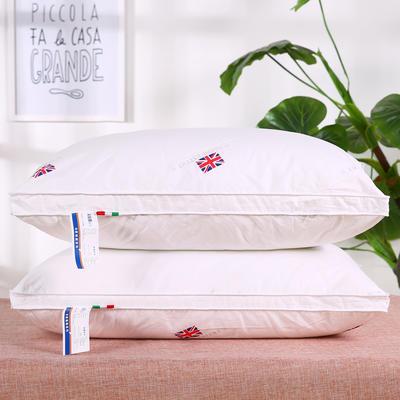 全棉米字旗羽丝枕 保健枕安睡枕枕头枕芯