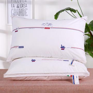 全棉印花天鹅羽丝枕保健枕安睡枕枕头枕芯