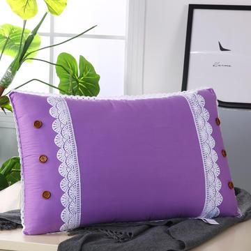 纯色韩版热熔水洗枕安神枕舒适枕保健枕