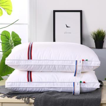 全棉彩条羽丝枕舒适枕安睡枕保健枕枕头枕芯