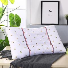 全棉印花小蜜蜂保健枕到现在安睡枕舒适枕枕芯枕头