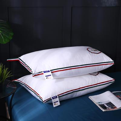 全棉立体织带小蜜蜂绣花羽丝枕枕头枕芯