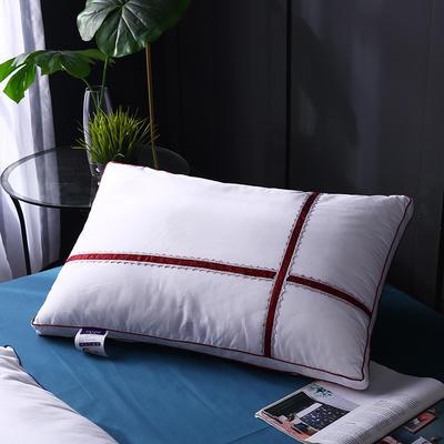 全棉立体水溶织带羽丝枕枕头枕芯保健枕 红色