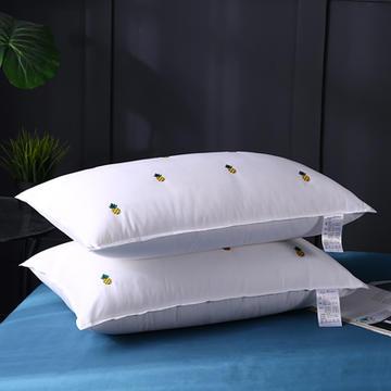 全棉立体双针绣花菠萝羽丝枕枕芯枕头保健枕