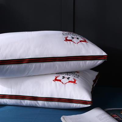 全棉立体欧式绣花梅花鹿羽丝枕枕头枕芯保健枕安睡枕