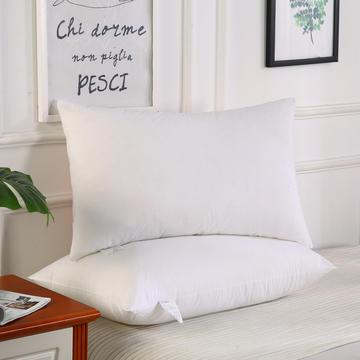 全棉素雅白简约羽丝枕枕头枕芯保健枕安睡枕