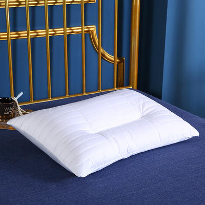 贤内助 全棉绗绣高低护肩枕枕头枕芯安睡枕保健枕