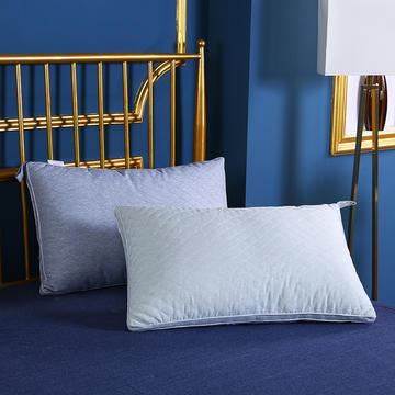 贤内助 全棉绗绣热熔水洗枕枕头枕芯安睡枕护肩枕保健枕