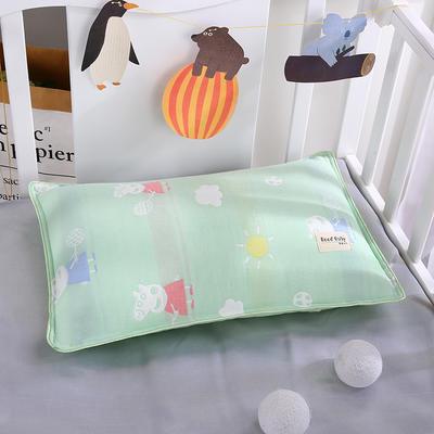 2019新款儿童纱布水洗枕舒适枕安睡枕枕头枕芯 其它 小兔绿
