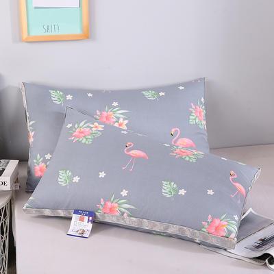 2019新款灰 藍羽絲枕舒適枕安睡枕枕頭枕芯 灰