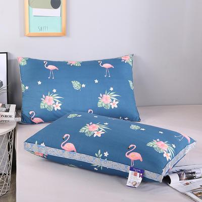 2019新款灰 藍羽絲枕舒適枕安睡枕枕頭枕芯 藍