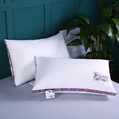 2019新款立體織帶印花羽絲枕舒適枕安睡枕枕頭枕芯 天鵝