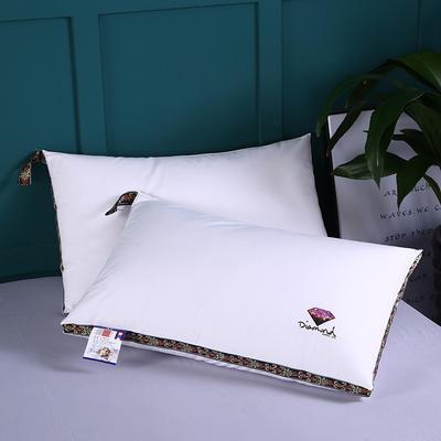 2019新款立體織帶印花羽絲枕舒適枕安睡枕枕頭枕芯 鉆石