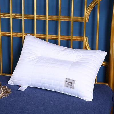 2020新款-全棉绗绣羽丝护肩枕枕头安睡枕枕芯(48*74cm ) 全棉绗绣羽丝护肩枕枕头/只