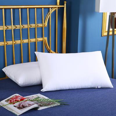 2020新款-全棉简约热熔水洗枕安睡枕护肩枕枕芯枕头(45*70cm ) 全棉简约热熔水洗枕/只