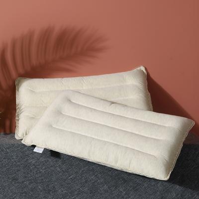 2020新款彩棉纯色定型保健枕枕芯枕头 白色 48*74cn/一只