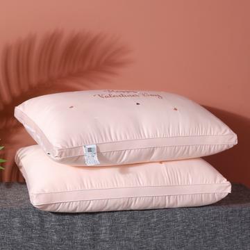 2020新款全棉爱心羽丝枕枕芯枕头