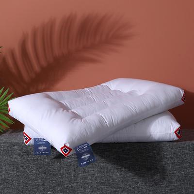2020新款全棉简约定型枕枕头枕芯 白色48*74cn/一只