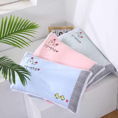 卡通绣花儿童水洗枕枕头枕芯--飞边款32*50cm 快乐小鸡 粉(水洗芯)/一只)