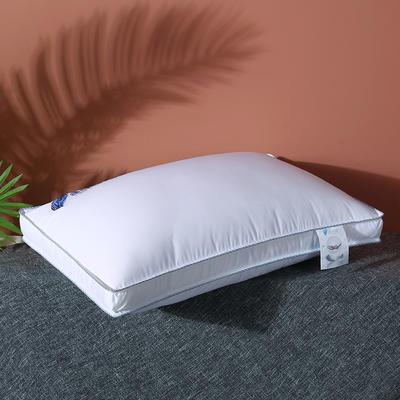 2020新款全棉高密暖心羽丝枕枕头枕芯48*74cm 白色/一只